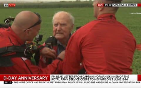 Ninety year old nerves of steel - Credit: Sky News