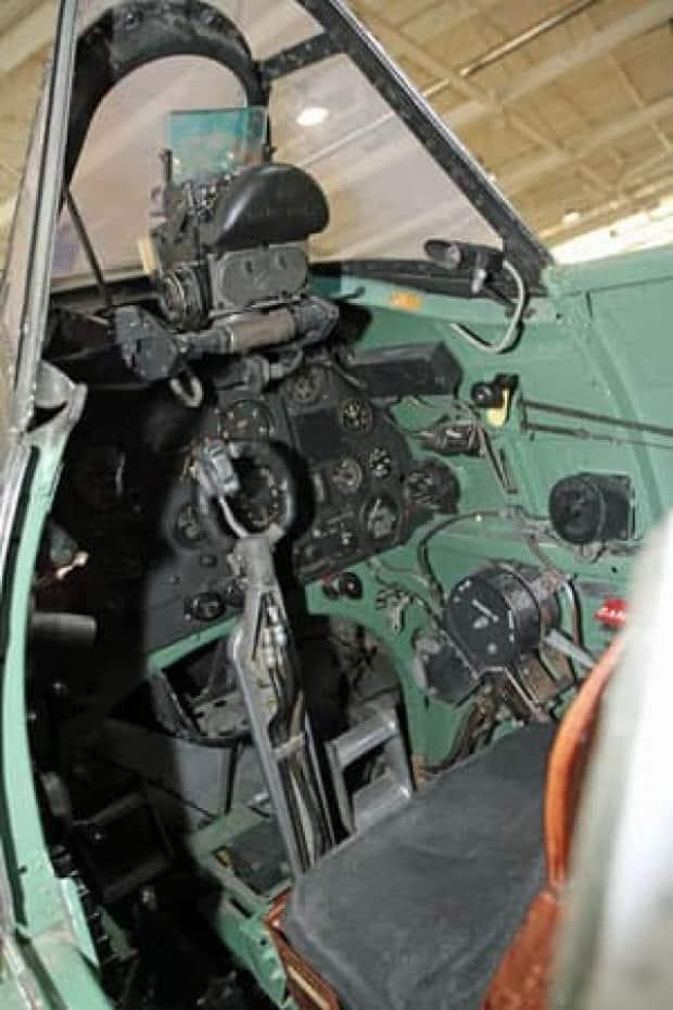 The cockpit of a Spitfire is extremely cramped and spartan. The pilot's handbook for the fighter warns that the aircraft can stall out and spin if the pilot does not react quickly in a climb.