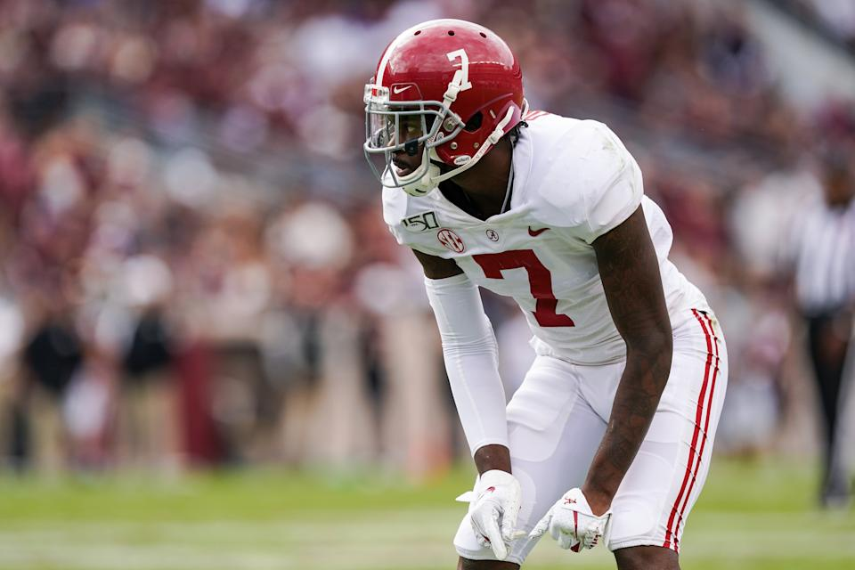Trevon Diggs didn't always play up to his talent level at Alabama.  (Photo by Daniel Dunn/Icon Sportswire via Getty Images)