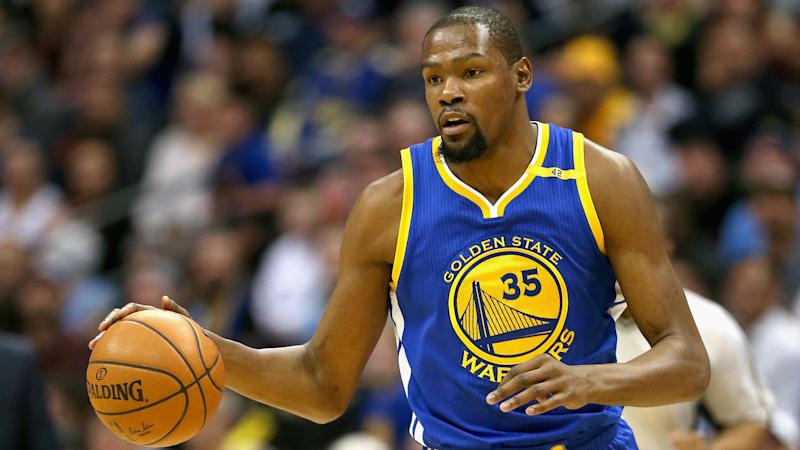 NBA playoffs 2017: Kevin Durant sits out Game 2 as Warriors 'err on side of caution'