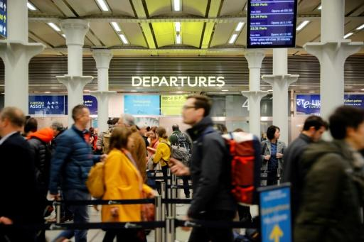 At London's St Pancras station Saturday morning a Eurostar train arriving from Paris became the first from the continental connection service to leave EU territory, a small, symbolic milestone in the Brexit process