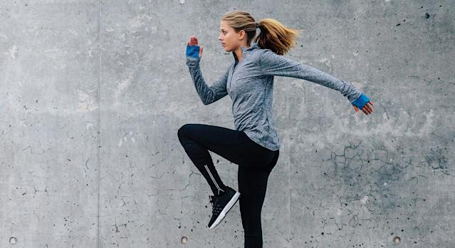 From leggings to sports bras and jackets, we've rounded-up a list of recommended fitness gear. [Photo: Getty]