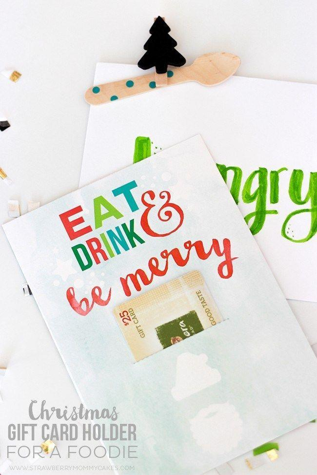 """<p>For an A+ in presentation, download this printable gift card template. After that, the only thing you need to do is use a craft knife to cut a spot for the card. </p><p><em>Get the tutorial at <a href=""""https://printablecrush.com/how-to-make-a-christmas-gift-card-holder-for-a-foodie/"""" rel=""""nofollow noopener"""" target=""""_blank"""" data-ylk=""""slk:Printable Crush"""" class=""""link rapid-noclick-resp"""">Printable Crush</a>.</em></p><p><a class=""""link rapid-noclick-resp"""" href=""""https://www.amazon.com/X-Acto-XZ3601-X-ACTO-Knife-Safety/dp/B005KRSWM6?tag=syn-yahoo-20&ascsubtag=%5Bartid%7C10072.g.34351112%5Bsrc%7Cyahoo-us"""" rel=""""nofollow noopener"""" target=""""_blank"""" data-ylk=""""slk:SHOP CRAFT KNIFE"""">SHOP CRAFT KNIFE</a></p>"""