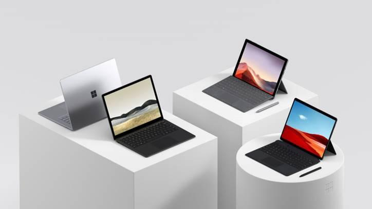 Surface family suite. (PHOTO: Microsoft)