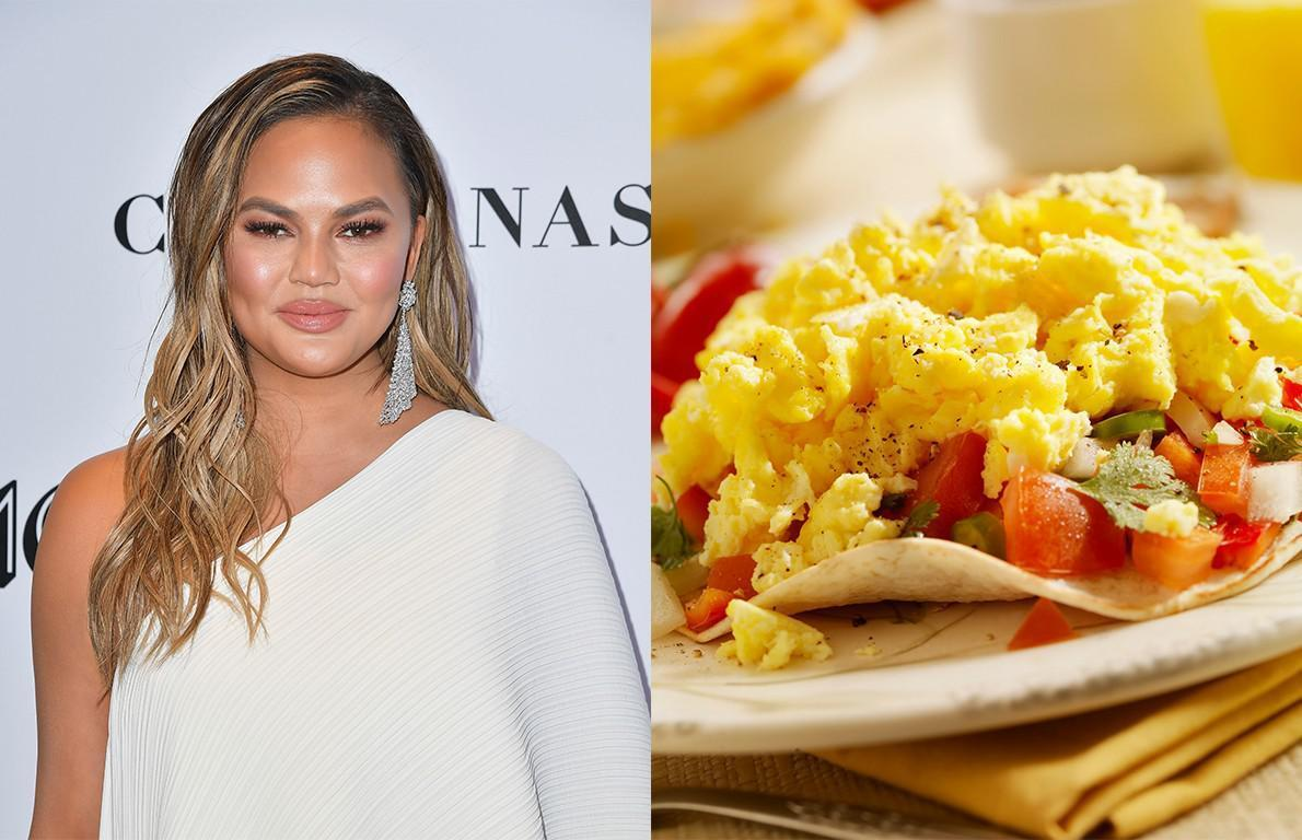 """<p>Model and cookbook author<a href=""""https://www.thedailymeal.com/healthy-eating/5-reasons-everyones-talking-about-food-goddess-chrissy-teigen-right-now?referrer=yahoo&category=beauty_food&include_utm=1&utm_medium=referral&utm_source=yahoo&utm_campaign=feed""""> Chrissy Teigen</a> <a href=""""https://www.cookingchanneltv.com/recipes/chrissy-teigen/low-and-slow-scrambled-eggs-2120918?referrer=yahoo&category=beauty_food&include_utm=1&utm_medium=referral&utm_source=yahoo&utm_campaign=feed"""">whisks</a> 8 eggs with cream, salt and pepper before adding them to a pan (in which butter has been melted) over low heat. She stirs constantly with a spatula until the eggs set, which can take up to a half-hour.</p>"""