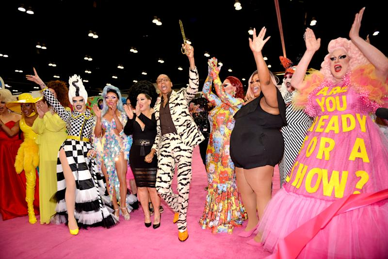 It could be some time until we see crowded scenes of joy like this one, from RuPaul's DragCon LA 2019. But for now, drag queens are giving their fans virtual realness. (Photo: Chelsea Guglielmino/Getty Images)