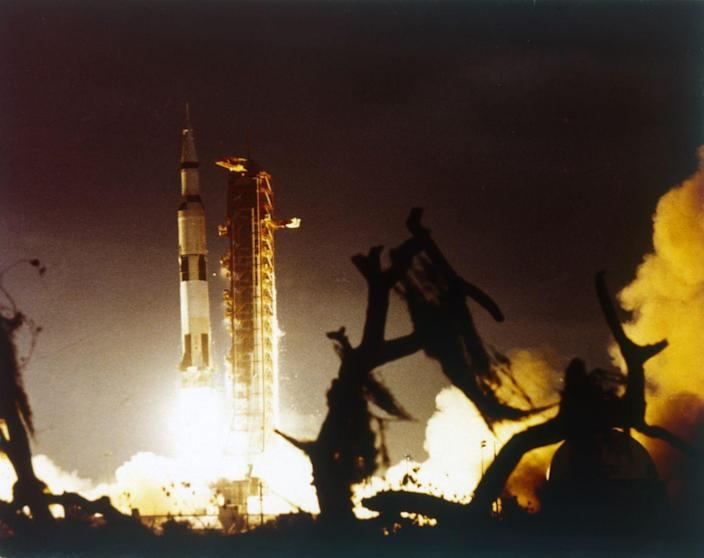 """<p><a href=""""https://www.nasa.gov/audience/forstudents/5-8/features/nasa-knows/what-was-apollo-program-58.html"""" rel=""""nofollow noopener"""" target=""""_blank"""" data-ylk=""""slk:Neil Armstrong took it to the moon in 1969"""" class=""""link rapid-noclick-resp"""">Neil Armstrong took it to the moon in 1969</a>, using that 7.6 million pounds of thrust during launch to push this 363-foot-tall rocket toward new space heights for the United States. The Saturn was <a href=""""https://www.boeing.com/history/products/saturn-v-moon-rocket.page"""" rel=""""nofollow noopener"""" target=""""_blank"""" data-ylk=""""slk:designed in Huntsville, Alabama"""" class=""""link rapid-noclick-resp"""">designed in Huntsville, Alabama</a> with Boeing, McDonnell Douglas, and IBM sharing know-how on a rocket that powered Apollo missions aplenty. Virtually every aspect of the rocket was bigger, heavier, and more powerful than anything previously created.</p>"""