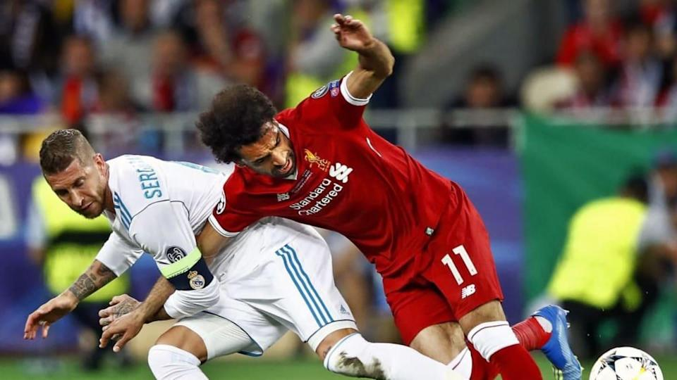 Mohamed Salah vs Sergio Ramos | VI-Images/Getty Images