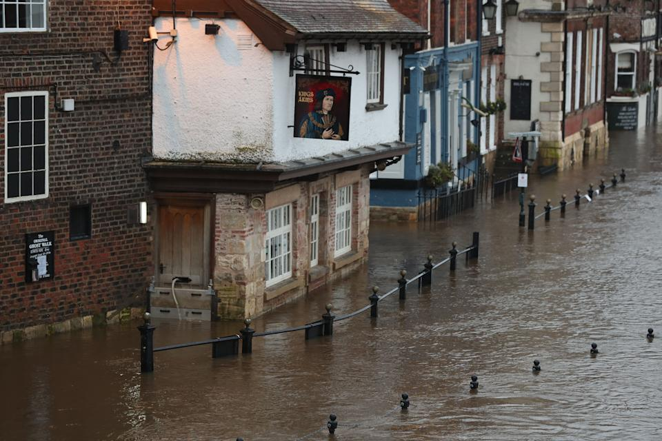 York flood waters are already high (Photo: Danny Lawson - PA Images via Getty Images)