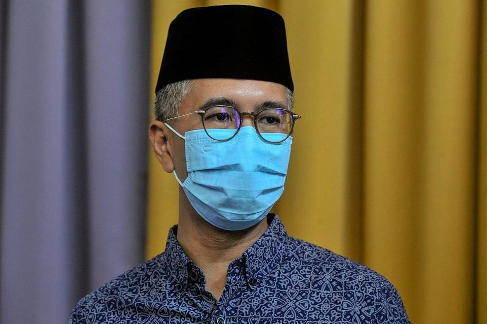 Finance Minister Datuk Seri Tengku Zafrul Abdul Aziz said the publishing today of the PBS for the Malaysian government's Budget 2022 is part of efforts to improve the annual budget preparation process. — Bernama pic