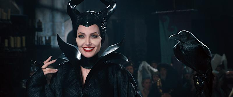 """Maleficent (Angelina Jolie) holds court as more than just a villain in the """"Sleeping Beauty"""" revamp """"Maleficent."""""""