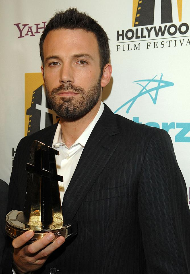 """<a href=""""http://movies.yahoo.com/movie/contributor/1800018969"""">Ben Affleck</a> at the Hollywood Film Festival's Hollywood Awards in Beverly Hills - 10/22/2007"""