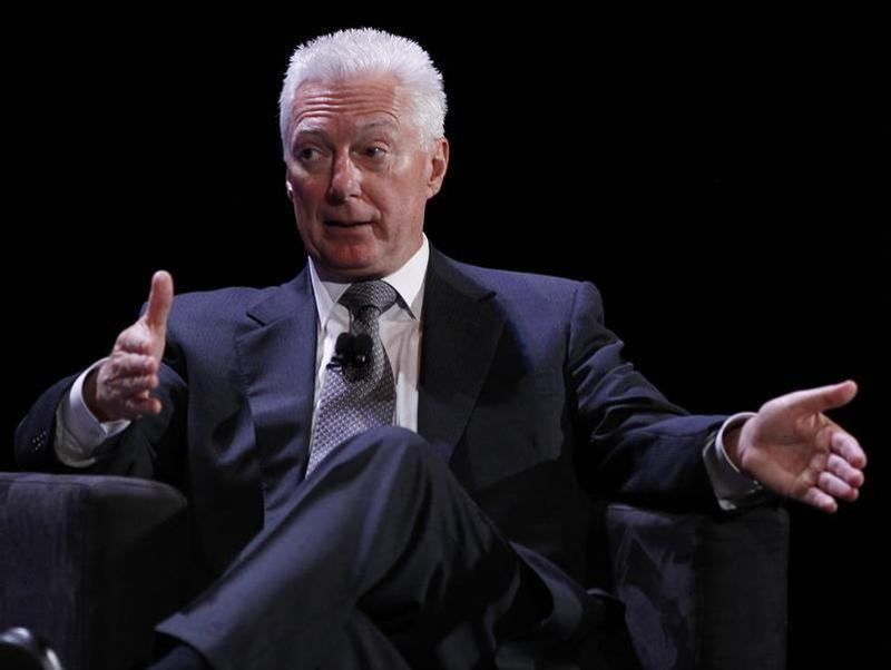 Former Chairman of the Board, President and Chief Executive Officer of Procter & Gamble A.G. Lafley speaks during the World Business Forum in New York