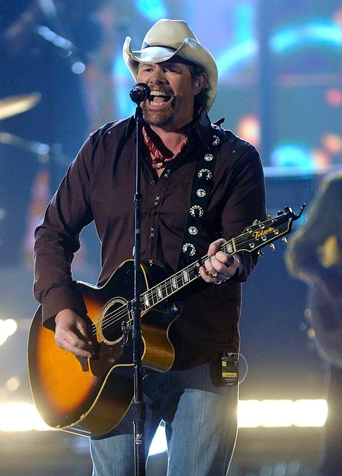 "Country singer Toby Keith turns 51 Ethan Miller/<a href=""http://www.gettyimages.com/"" target=""new"">GettyImages.com</a> - April 3, 2011"