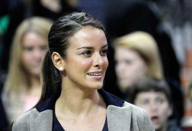 CHARLOTTE, NC - JANUARY 14: Yvette Prieto, fiance of Michael Jordan, watches on during the Golden State Warriors versus Charlotte Bobcats game at Time Warner Cable Arena on January 14, 2012 in Charlotte, North Carolina. NOTE TO USER: User expressly acknowledges and agrees that, by downloading and or using this photograph, User is consenting to the terms and conditions of the Getty Images License Agreement. (Photo by Streeter Lecka/Getty Images)