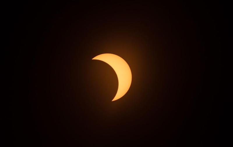 It was the first time a solar eclipse had crossed the entire USA since 1918. Source: Getty