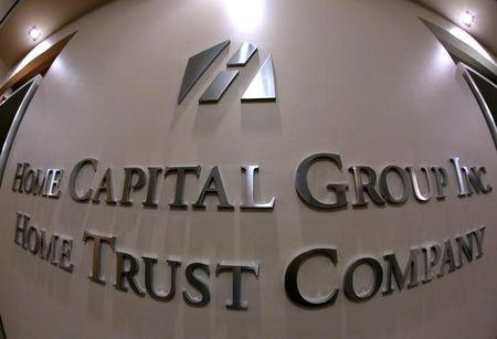 The entry to the Home Capital Group's headquarters is seen in Toronto
