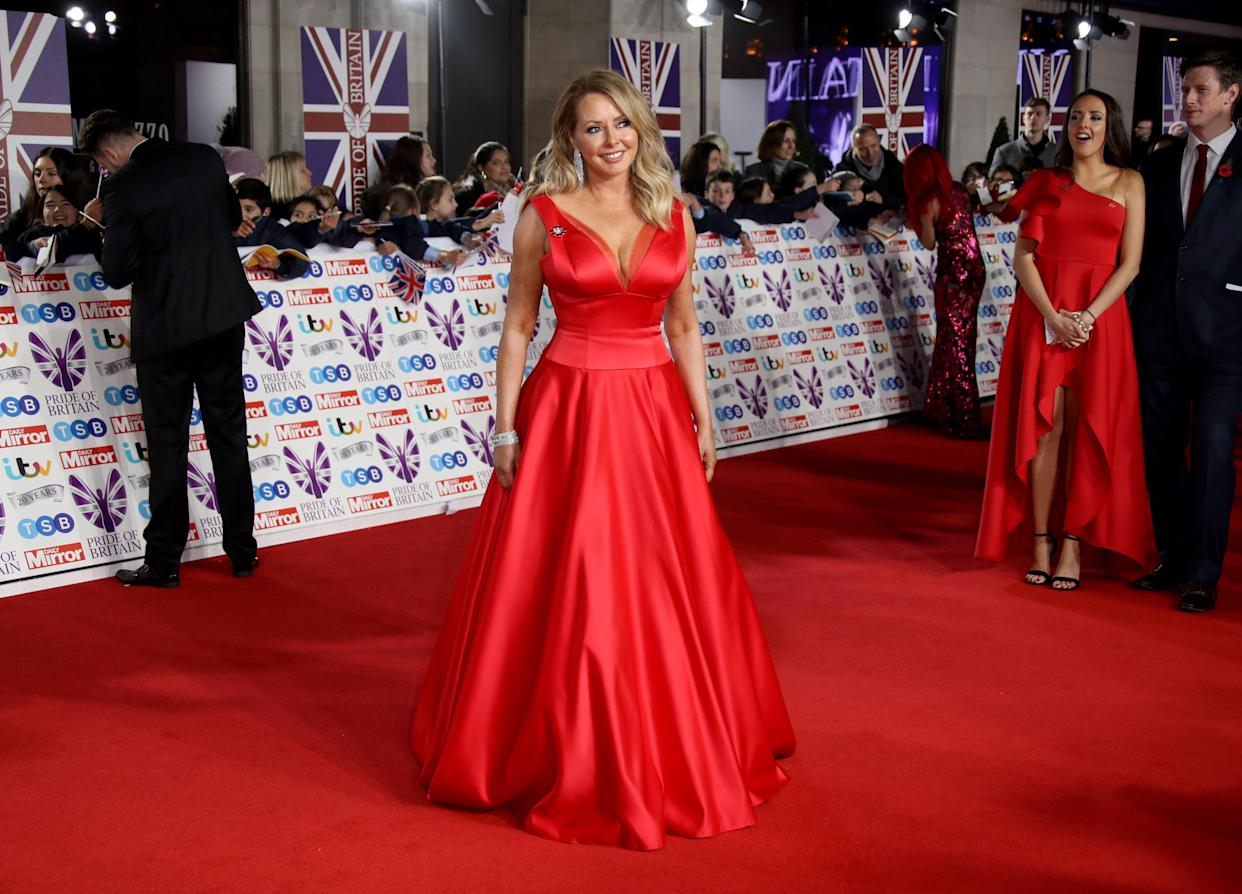LONDON, ENGLAND - OCTOBER 28:  Carol Vorderman attends Pride Of Britain Awards 2019 at The Grosvenor House Hotel on October 28, 2019 in London, England. (Photo by Mike Marsland/WireImage)