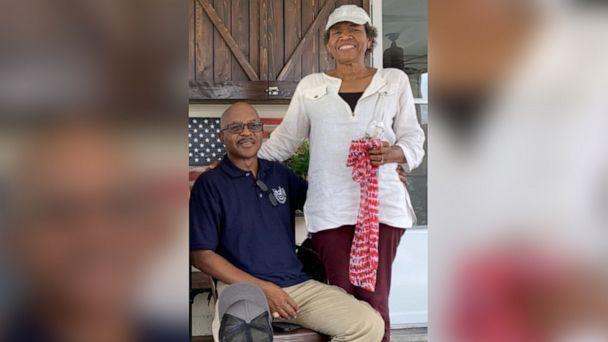 PHOTO: Saron James, 62, poses in this undated photo with her husband, Cleveland James. The couple was driving home from a doctor's appointment on July 16, 2019, in the Houston suburb of Katy when she was shot in the head. (The James Family via Harris County Sheriff's Office)