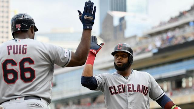 Carlos Santana came through for the Cleveland Indians in a big way on Sunday.