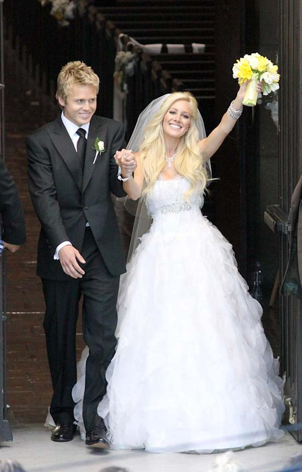 """Five months after their symbolic wedding in Mexico, Spencer Pratt and Heidi Montag tied the knot for real at the Westminster Presbyterian Church in Pasadena Saturday. The cast of """"The Hills"""" -- including Lauren Conrad, Audrina Patridge, and Stephanie Pratt -- were in attendance. <a href=""""http://www.x17online.com"""" target=""""new"""">X17 Online</a> - April 25, 2009"""