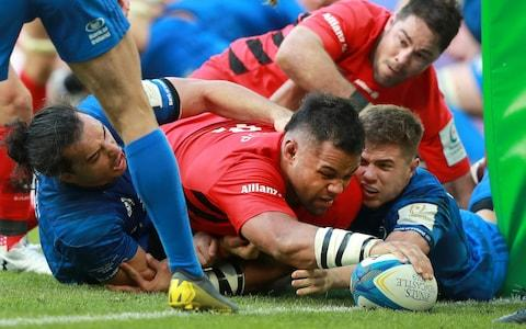 Billy Vunipola's touches down for his crucial second-half score - Credit: getty images europe