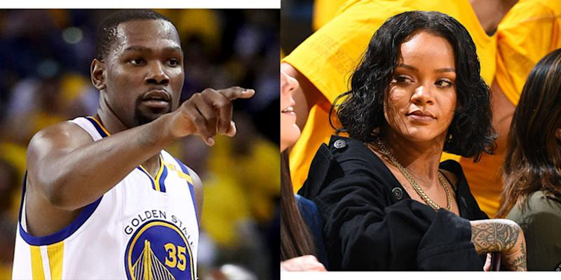 3082bbb7d8a6 Rihanna vs. Kevin Durant Is the Greatest Clash of the NBA Finals