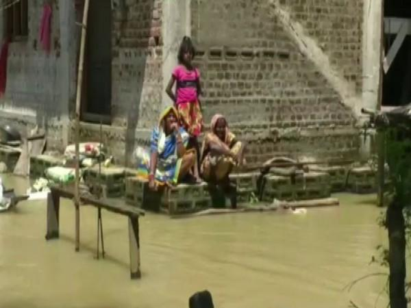 Flood-affected area in Bhadrak