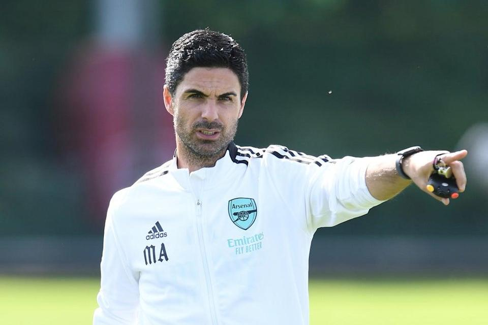 Mikel Arteta has come under increasing pressure after Arsenal's woeful start to the new season (Arsenal FC via Getty Images)