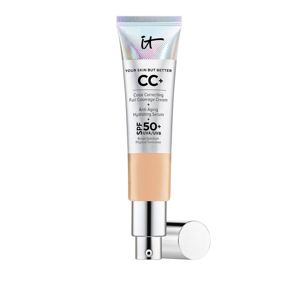 <p>While most CC creams have just enough sunscreen, the <span>It Cosmetics CC + Cream SPF50</span> ($40) has SPF 50 for serious protection. If you want full coverage, this is going to be your go-to.</p>