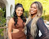 <p>Jordin Sparks and Laverne Cox attend Jeannie Mai's Owls Brew Boozy Tea Party in L.A.</p>