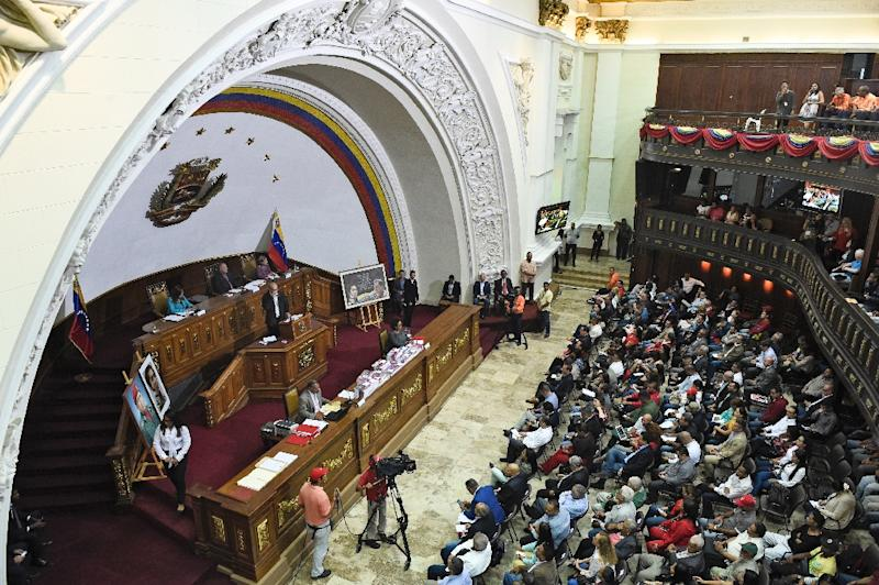 President Nicolas Maduro created the pro-government Constituent Assembly as a legislative body to sideline the opposition-controlled National Assembly (AFP Photo/Federico Parra                      )