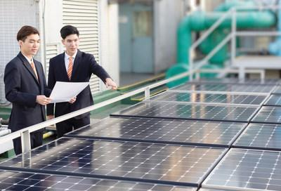 Sino Group strives to support renewable energy through the installation of photovoltaic panels at properties under its management.