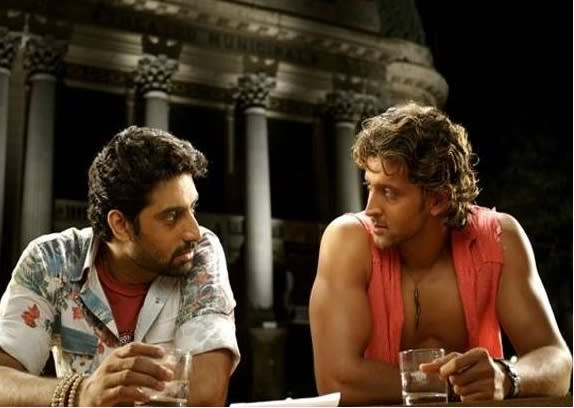 Abhishek Bachchan and Hrithik Roshan in 'Dhoom 2'