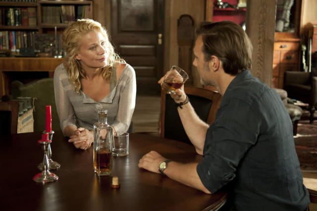 "Andrea (Laurie Holden) and The Governor (David Morrissey) in ""The Walking Dead"" episode, ""Walk With Me."""