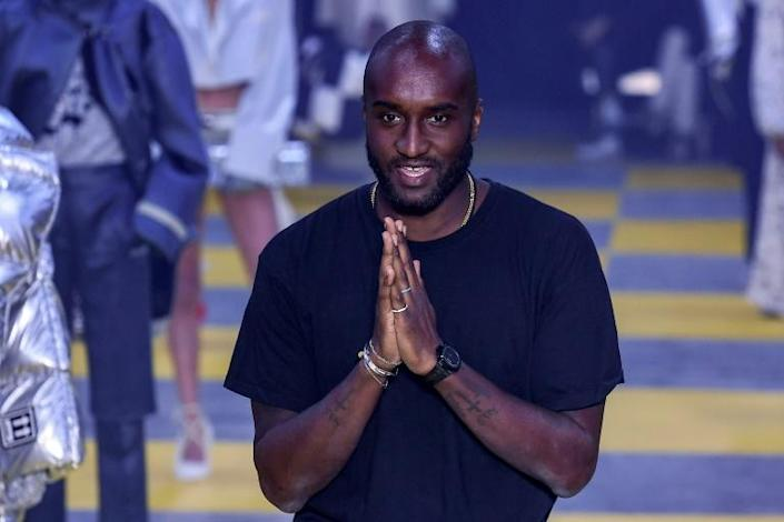 Man of the moment: US designer Virgil Abloh will show his own Off-White Tuesday and Louis Vuitton the day after (AFP Photo/Philippe LOPEZ)