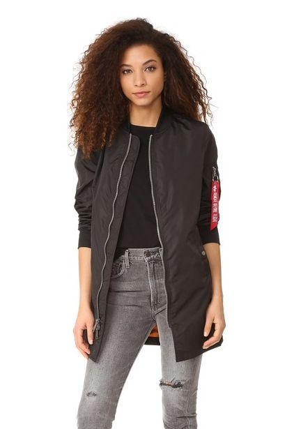 "Original price: $150<br />Sale price: <a href=""https://www.shopbop.com/long-bomber-jacket-alpha-industries/vp/v=1/1555410493.htm?folderID=15440&fm=other-shopbysize-viewall&os=false&colorId=12867"" target=""_blank"">$113</a>"