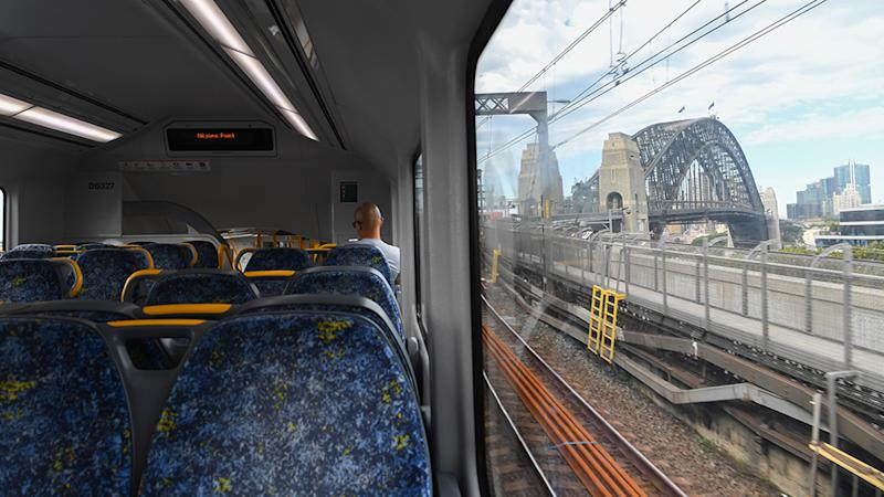 Sydney trains empty amid coronavirus pandemic