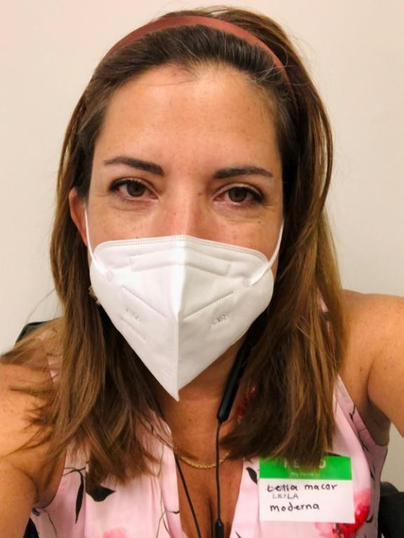 AFP reporter Leila Macor participated in the Moderna coronavirus vaccine trial at the Research Centers of America in Florida