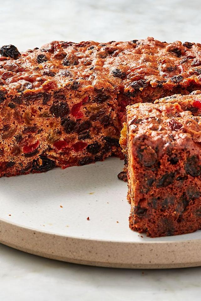 """<p>Fruitcake? Sounds a bit old fashioned! It's anything but – this is the future of Christmas cakes.</p><p>Get the <a href=""""https://www.delish.com/uk/cooking/recipes/a29220516/aperol-christmas-cake/"""" target=""""_blank"""">Aperol Christmas Cake</a> recipe.</p>"""