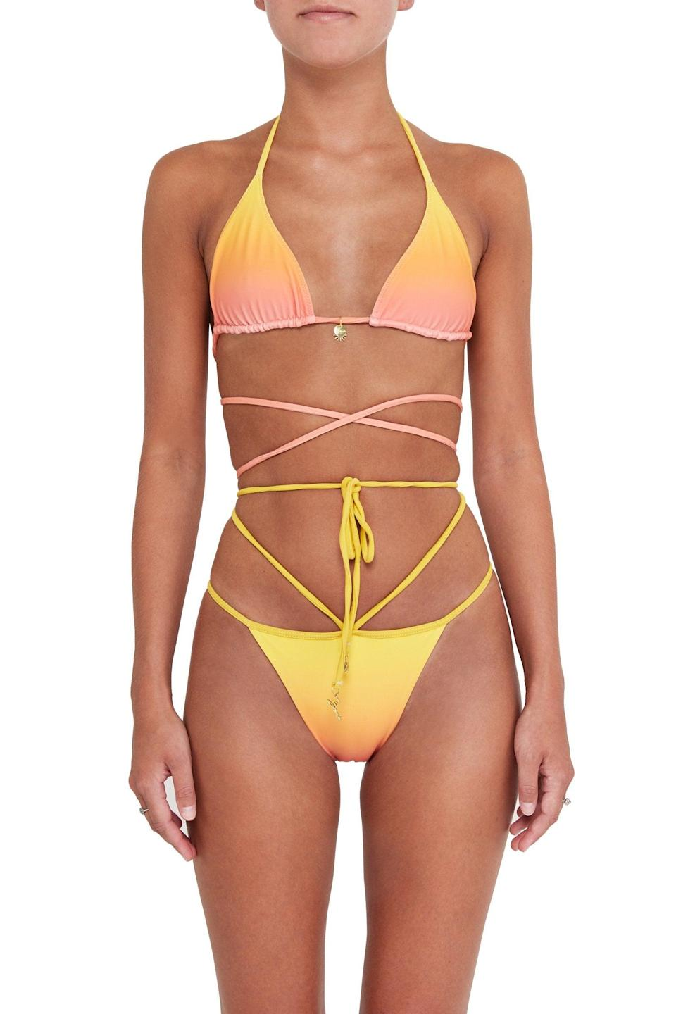 """<br><br><strong>Bamba Swim</strong> Sol Top, $, available at <a href=""""https://go.skimresources.com/?id=30283X879131&url=https%3A%2F%2Fwww.bambaswim.com%2Fcollections%2Fnew-arrivals%2Fproducts%2Fsol-top-sunset"""" rel=""""nofollow noopener"""" target=""""_blank"""" data-ylk=""""slk:Bamba Swim"""" class=""""link rapid-noclick-resp"""">Bamba Swim</a><br><br><strong>Bamba Swim</strong> Sol Bottoms, $, available at <a href=""""https://go.skimresources.com/?id=30283X879131&url=https%3A%2F%2Fwww.bambaswim.com%2Fcollections%2Fnew-arrivals%2Fproducts%2Fsol-bottoms-sunset"""" rel=""""nofollow noopener"""" target=""""_blank"""" data-ylk=""""slk:Bamba Swim"""" class=""""link rapid-noclick-resp"""">Bamba Swim</a>"""