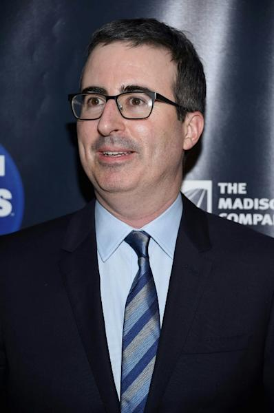 """Among comedy and satirical shows which have seen a ratings boom since US President Donald Trump came to power is """"Last Week Tonight"""" with John Oliver on HBO"""