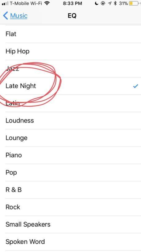 Click 'Late Night' to get those speakers pumping. Photo: Twitter