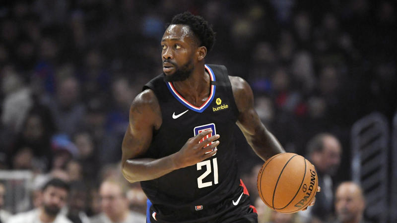 Los Angeles Clippers guard Patrick Beverley dribbles during the first half of an NBA basketball game against the Golden State Warriors Friday, Jan. 10, 2020, in Los Angeles. (AP Photo/Mark J. Terrill)