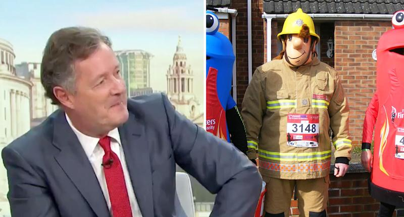 Piers Morgan has criticised the decision to ban Fireman Sam. [Photo: PA/ITV]