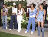"""Today, Jennifer Lopez has her own beauty brand and is the face of Coach, but back in 2001, she introduced her own apparel line called <a href=""""https://www.vogue.com/fashion-shows/fall-2005-ready-to-wear/sweetface?mbid=synd_yahoo_rss"""" rel=""""nofollow noopener"""" target=""""_blank"""" data-ylk=""""slk:Sweetface"""" class=""""link rapid-noclick-resp"""">Sweetface</a>. Paying homage to J.Lo's own personal style, it was all about slinky, skin-bearing pieces, funky knits, and low-rise jeans. It shuttered in 2009."""