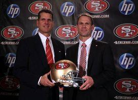 Jim Harbaugh and Trent Baalke