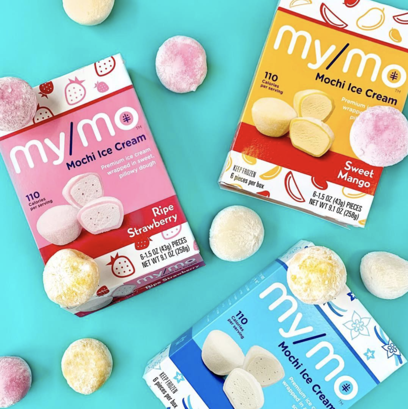 My/Mo mochi ice cream is a confection made of ice cream wrapped in sweet rice dough.