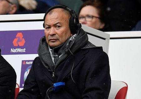 Rugby Union - Six Nations Championship - England vs Ireland - Twickenham Stadium, London, Britain - March 17, 2018 England head coach Eddie Jones looks on from the stands REUTERS/Toby Melville