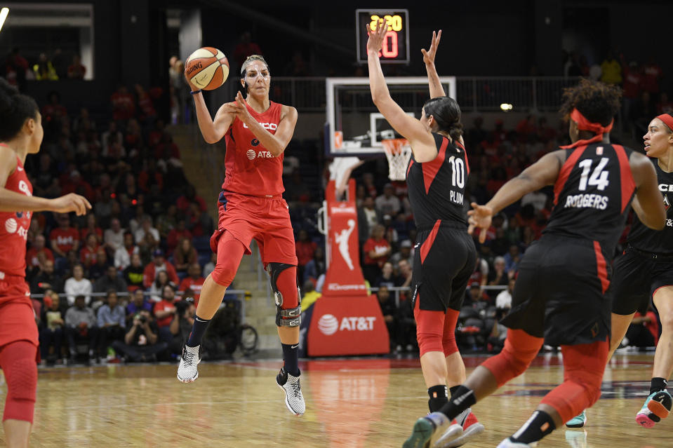 The WNBA plans to begin play in a bubble setting at the IMG Academy in Florida next month. (AP Photo/Nick Wass)